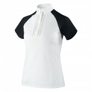 Product shot of white short sleeved shirt