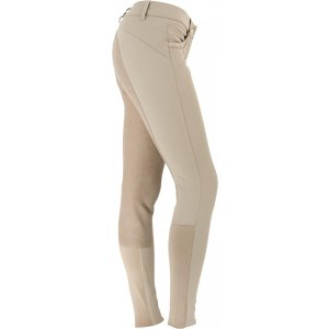 Product shot of womans light brown breeches
