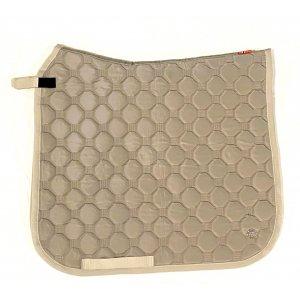 Product shot of brown saddle pad