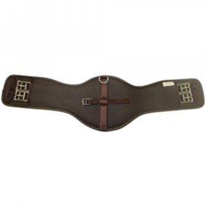 Brown horse saddle girth