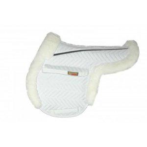 White horse saddle pad