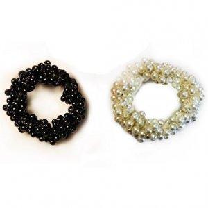 Pearl hair scrunchies
