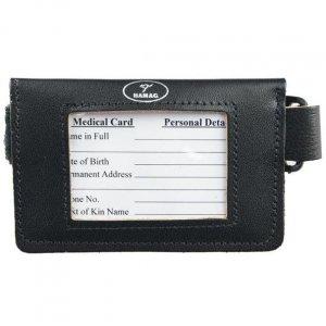 Leather armband document holder