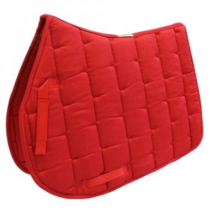 Red horse saddle pad