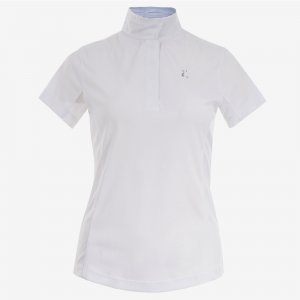 Product shot of white equestrian shirt
