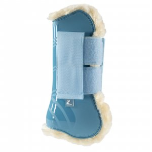 Turquoise horse boot