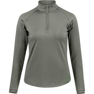 Product shot of green long sleeved shirt