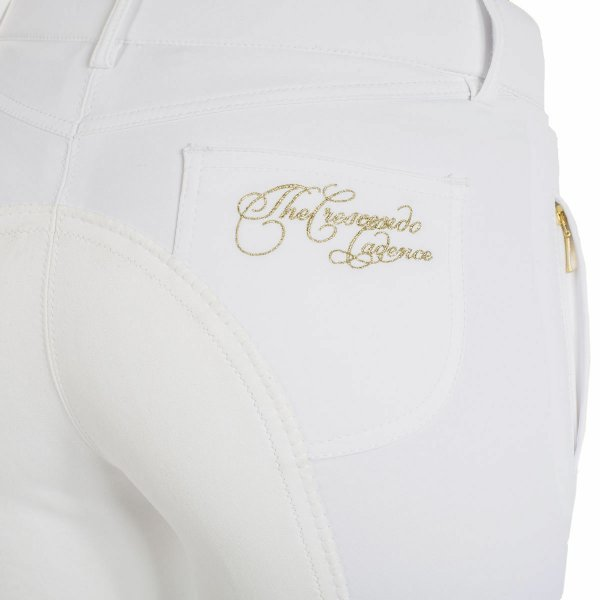 Product shot of womans white breeches