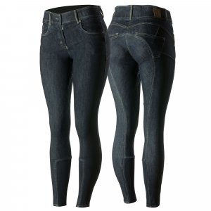 Product shot of womans denim breeches