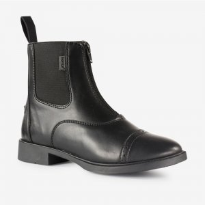 Product shot of black horse riding boots
