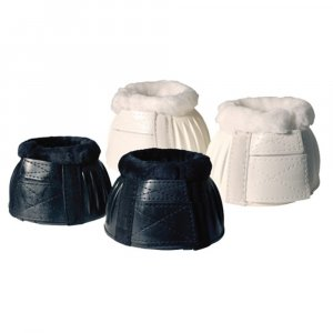 White and black horse bell boots